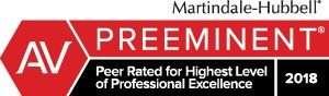 Martindale-Hubbell AV Preeminent badge JMH 2018
