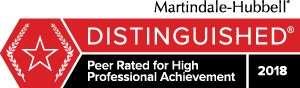 Martindale Hubbell Distinguished Badge-JMH 2018